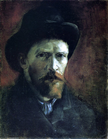Vincent Van Gogh Self Portrait in a Dark Felt Hat - Hand Painted Oil Painting