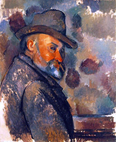 Paul Cezanne Self Portrait in a Felt Hat - Hand Painted Oil Painting