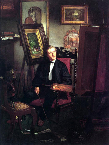 Thomas Hovenden Self Portrait of the Artist in His Studio - Hand Painted Oil Painting