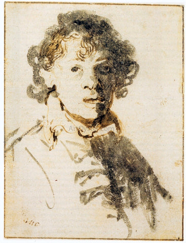Rembrandt Van Rijn Self Portrait, Open-Mouthed - Hand Painted Oil Painting