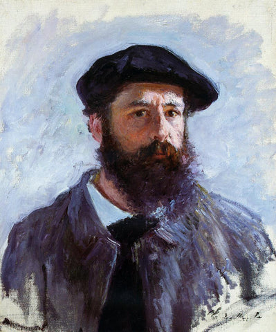 Claude Oscar Monet Self Portrait with a Beret - Hand Painted Oil Painting