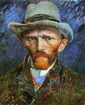 Vincent Van Gogh Self Portrait with a Grey Felt Hat - Hand Painted Oil Painting