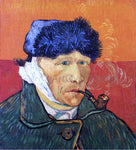 Vincent Van Gogh Self Portrait with Bandaged Ear and Pipe - Hand Painted Oil Painting