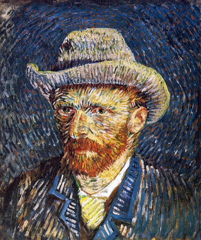 Vincent Van Gogh Self Portrait with Felt Hat - Hand Painted Oil Painting