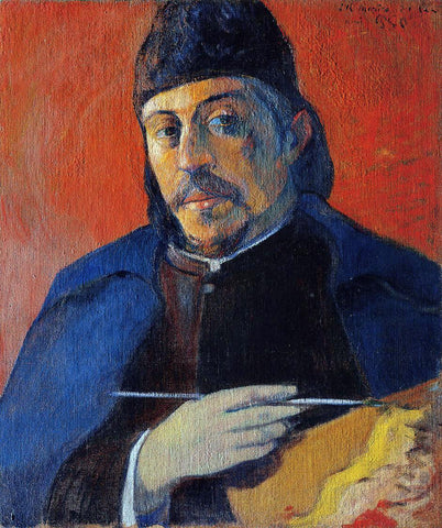 Paul Gauguin Self Portrait with Palette - Hand Painted Oil Painting