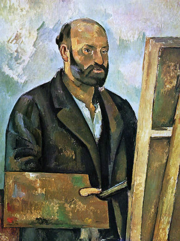 Paul Cezanne Self Portrait with Palette - Hand Painted Oil Painting