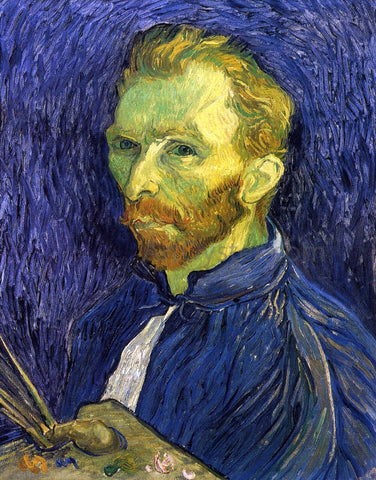 Vincent Van Gogh Self Portrait with Pallette - Hand Painted Oil Painting