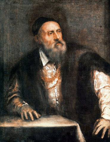 Titian Self-Portrait - Hand Painted Oil Painting