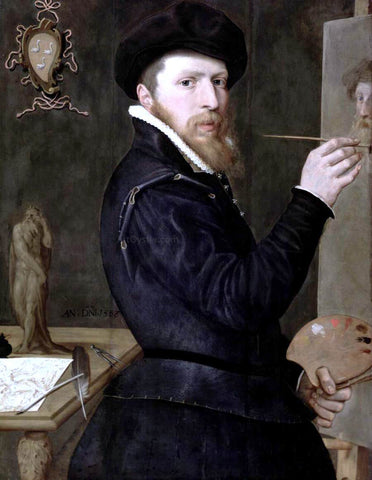 Isaac Claesz Van Swanenburg Self-Portrait - Hand Painted Oil Painting