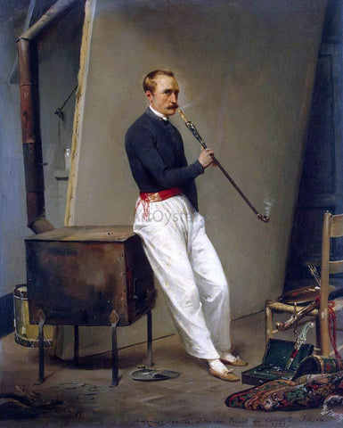 Horace Vernet Self-Portrait - Hand Painted Oil Painting