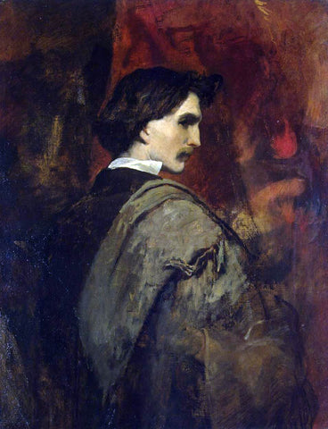 Anselm Friedrich Feuerbach Self-Portrait - Hand Painted Oil Painting