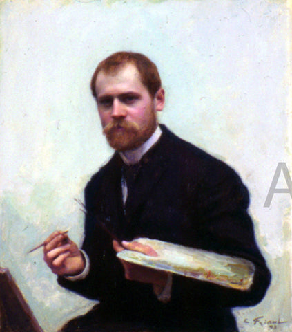 Emile Friant Self-Portrait - Hand Painted Oil Painting