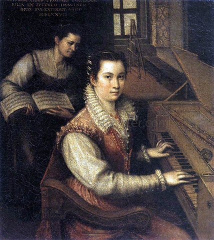 Lavinia Fontana Self-Portrait at the Spinet - Hand Painted Oil Painting