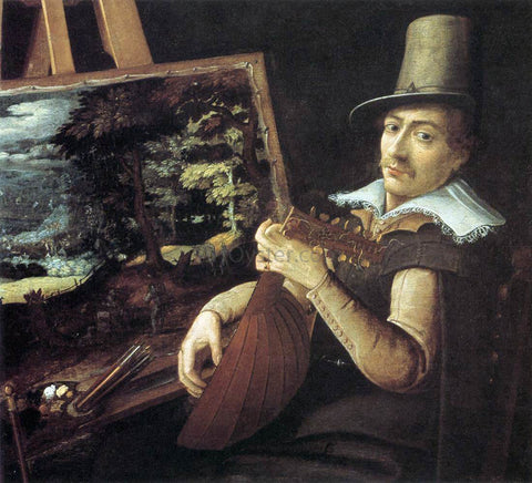 Paul Bril Self-Portrait - Hand Painted Oil Painting