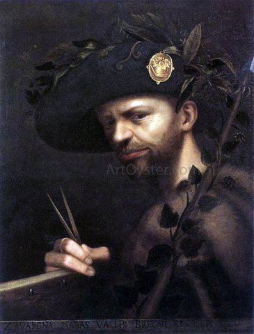 Giovan Paolo Lomazzo Self-Portrait - Hand Painted Oil Painting