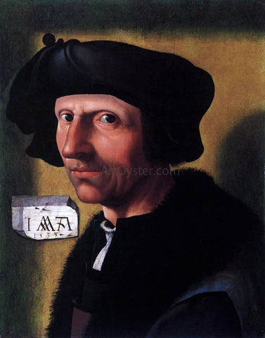 Jacob Cornelisz Van Oostsanen Self-Portrait - Hand Painted Oil Painting