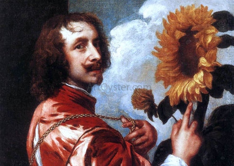 Sir Antony Van Dyck Self-portrait with a Sunflower - Hand Painted Oil Painting