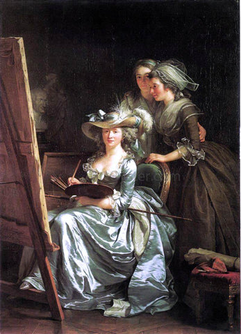 Adela?Øde Labille-Guiard Self-Portrait with Two Pupils - Hand Painted Oil Painting