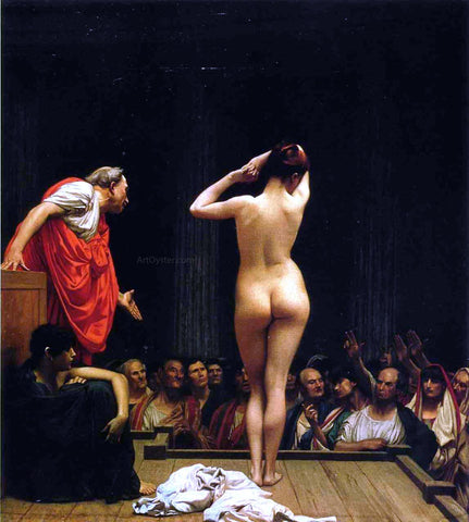 Jean-Leon Gerome Selling Slaves in Rome - Hand Painted Oil Painting