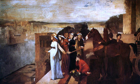 Edgar Degas Semiramis Building Babylon - Hand Painted Oil Painting