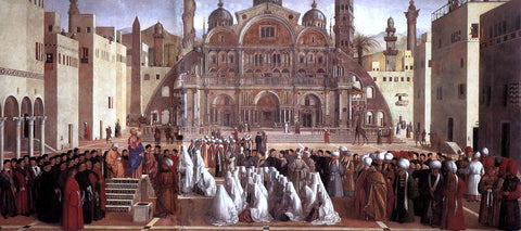 Giovanni Bellini Sermon of St Mark in Alexandria - Hand Painted Oil Painting