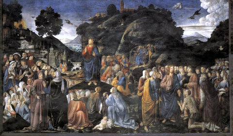 Cosimo Rosselli Sermon on the Mount - Hand Painted Oil Painting
