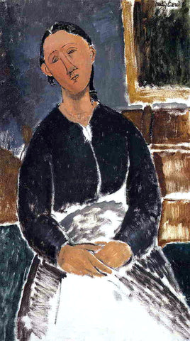 Amedeo Modigliani Serving Woman (also known as La Fantesca) - Hand Painted Oil Painting