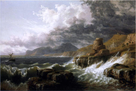 Russell Smith Sestri-Genoese Coast - Hand Painted Oil Painting