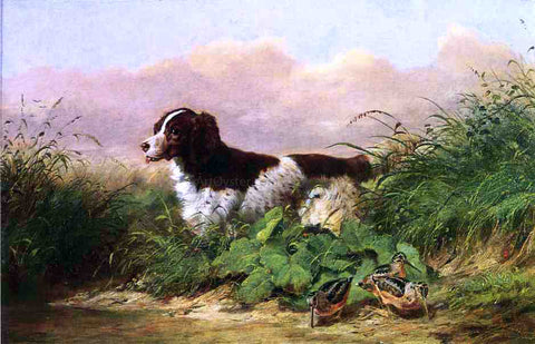 Arthur Fitzwilliam Tait Setter and Woodcock - Hand Painted Oil Painting