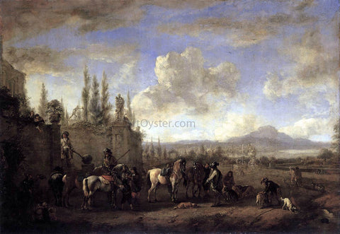 Philips Wouwerman Setting out on the Hunt - Hand Painted Oil Painting