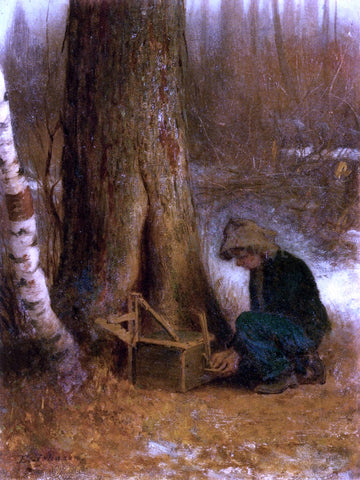 Eastman Johnson Setting the Trap - Hand Painted Oil Painting