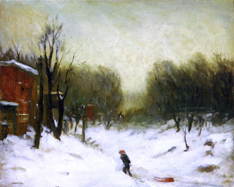 Robert Henri Seventh Avenue in the Snow - Hand Painted Oil Painting