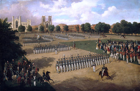 Otto Boetticher Seventh Regiment on Review, Washington Square, New York - Hand Painted Oil Painting