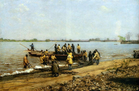 Thomas Eakins Shad Fishing at Gloucester on the Delaware River - Hand Painted Oil Painting