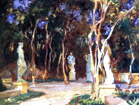 John Singer Sargent Shady Paths - Hand Painted Oil Painting