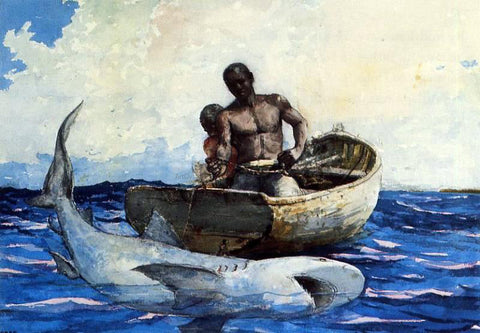Winslow Homer Shark Fishing - Hand Painted Oil Painting