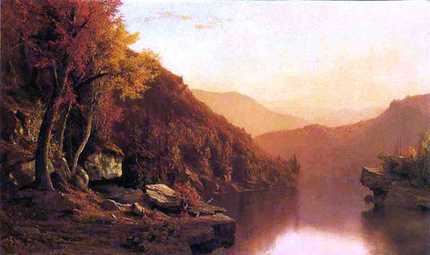 Jervis McEntee Shawanagunk Mountains, Autumn - Hand Painted Oil Painting