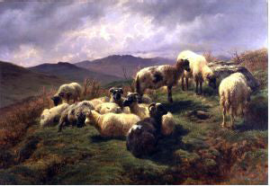Rosa Bonheur Sheep in the Highlands - Hand Painted Oil Painting