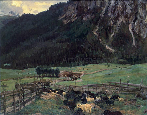 John Singer Sargent Sheepfold in the Tirol - Hand Painted Oil Painting