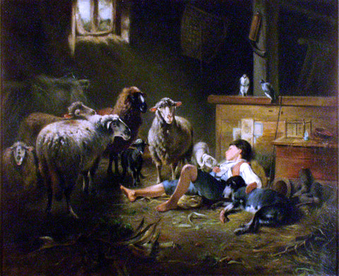 Friedrich Otto Gebler Shepherd - Hand Painted Oil Painting