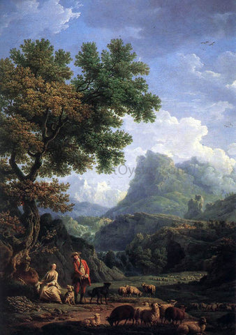 Claude-Joseph Vernet Shepherd in the Alps - Hand Painted Oil Painting