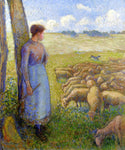 Camille Pissarro A Shepherdess and Sheep - Hand Painted Oil Painting