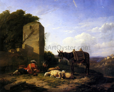 Eugene Verboeckhoven Shepherd's Rest - Hand Painted Oil Painting