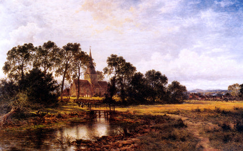 Benjamin Williams Leader Shere Church - Hand Painted Oil Painting