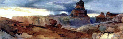 Thomas Moran Shin-Au-Av-Tu-Weap (God Land), Canyon of the Colorado, Utah - Hand Painted Oil Painting