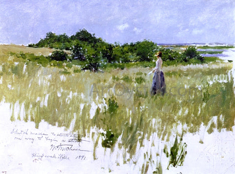 William Merritt Chase Shinnecock Hills (also known as A View of Shinnecock) - Hand Painted Oil Painting