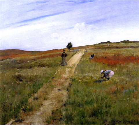 William Merritt Chase Shinnecock Hills (also known as Shinnecock Hills Autumn) - Hand Painted Oil Painting