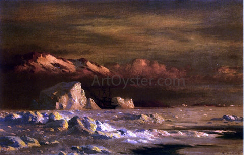 William Bradford Ship and Icebergs - Hand Painted Oil Painting