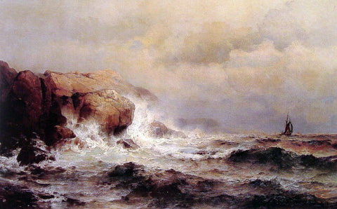 Mauritz F. H. De Haas Ship off a Stormy Coast - Hand Painted Oil Painting