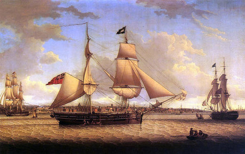 Robert Salmon Ship off Liverpool - Hand Painted Oil Painting